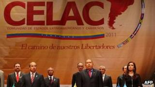 South American leaders at Celac conference in Caracas