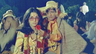 Dev Anand in the 1970 film Hare Rama Hare Krishna (Picture courtesy of Sidharth Bhatia and Navketan)