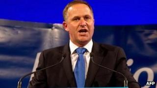 NZ PM John Key speaks on 26 November 2011
