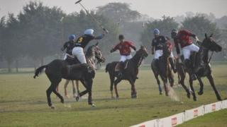 Players in action during the match in Delhi (Photo: Blue Apple Image Consultants)