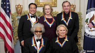 Clockwise from top left: Yo-Yo Ma, Meryl Streep, Neil Diamond, Barbara Cook and Sonny Rollins
