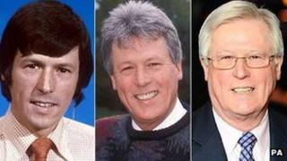 John Craven in 1974, 1992 and 2011