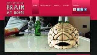 "Police campaign featuring ""crying"" brain"