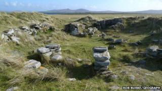 Iron Age remains at Udal. Pic: Rob Burke/Geograph