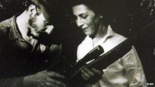 Fidel Castro and Celia Sanchez in 1957
