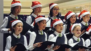 Carol singers in Shanghai