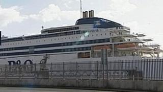 A P&O Ferry in Hull