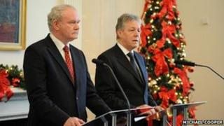 First Minister Peter Robinson and Deputy First Minister Martin McGuinness