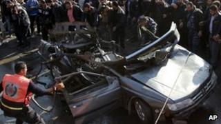 Car targeted in Israeli air strike