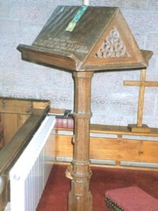 Mouseman bible stand