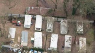 Caravans on the site