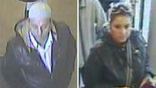 Met Police release images of two people suspected of stealing from an elderly couple