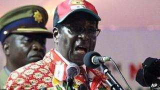 President Robert Mugabe addresses Zanu-PF delegates. 8 Dec 2011