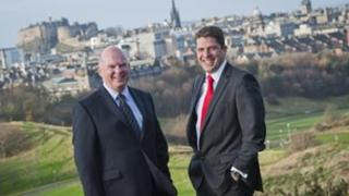 Alan Grant of Castle Cairn (left) and Iain Henry of Central Insurance