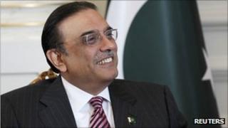 File photo of President Asif Ali Zardari in November 2011