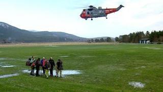 Rescued hillwalkers