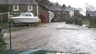 Flooding at Mosedale