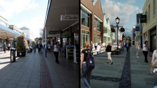 Abbey Shopping Centre (before and after)