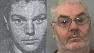 David Burgess in the late 1960s and present day