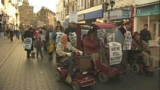 Hospital rally in Dover in December 2011