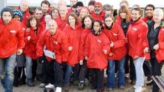 Volunteers who have been walking from Canterbury to London for Crisis (photo: Jeff Hubbard)