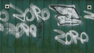Zoro's graffiti in Caterham
