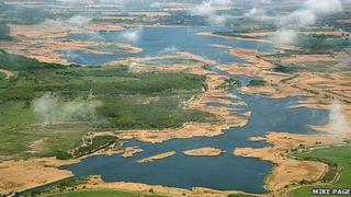 Aerial shot of Hickling Broad (Photo by Mike Page)