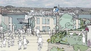 Artist impression of Smith's Dock development