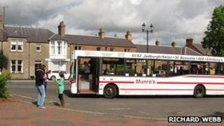 Munro's bus in St Boswells