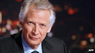 Dominique de Villepin announces his candidacy on French TV channel TF1, 11 December
