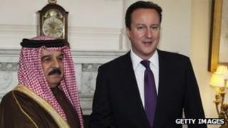 King Hamad with David Cameron