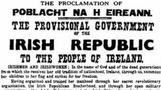 A copy of the 1916 Proclamation, ripped from a Dublin hoarding, is up for auction
