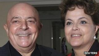 Lula (left) with Brazilian President Dilma Rousseff in Sao Paulo on 6 December