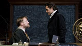 Jared Harris and Robert Downey Jr in Sherlock Holmes: A Game Of Shadows