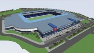 Bristol Rovers proposed new stadium from above