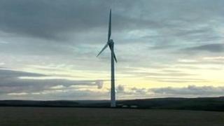Turbine at Callywith Farm