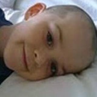 Adam in July 2009, three days after diagnosis