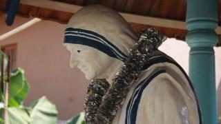 Statue of Mother Teresa at Prem Nivasa