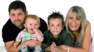 Richard and Clair Smith with their sons Aron and Ben