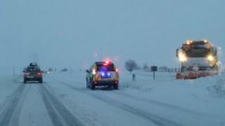 Police on the A9