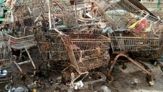 Shopping trolleys removed from river in Wiltshire