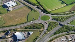 A47 Postwick interchange