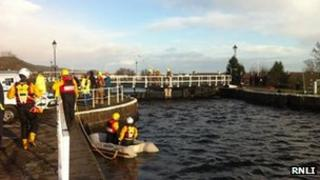 Search of canal. Pic: RNLI
