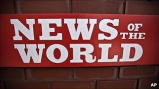 News of the World sign