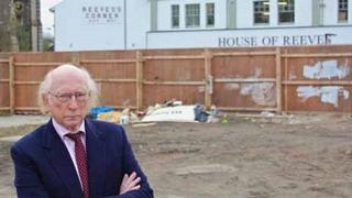 Maurice Reeves on the site of his family shop