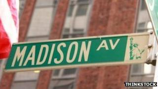 A street sign for Madison Avenue in New York City