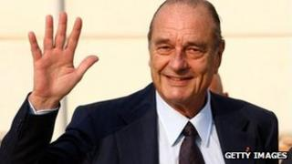 Former French President Jacques Chirac (file image)