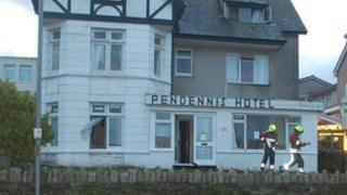 Fifty firefighters fought a blaze at the former Pendennis Hotel in Newquay