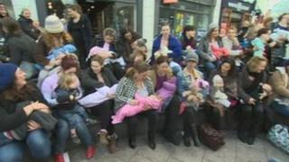 Breast feeding flash mob