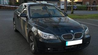 Police photo of robbers' car